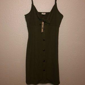 Olive Knot Front Dress Garage BRAND NEW